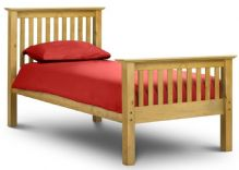 Barcelona Pine High Foot End Bed Single 90cm